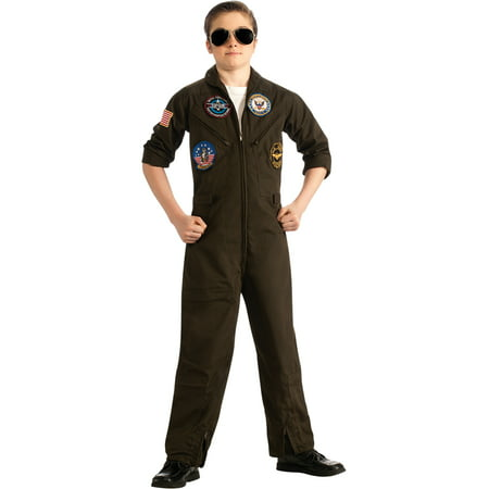 Child Male Top Gun Flight Suit Costume by Rubies 881688