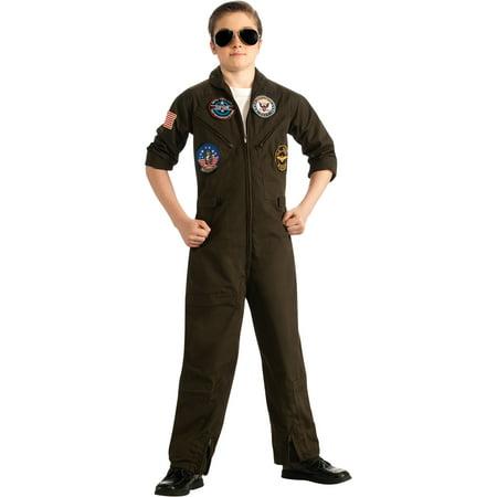 Child Male Top Gun Flight Suit Costume by Rubies - Costume Top Gun