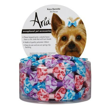 Aria Kaya Dog Barettes Canister, 48 Pc