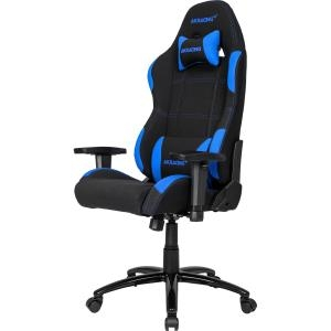 Image of ERGONOMIC GAMING CHAIR BLUE ADJ ARMS ND HEIGHT RECLINE PLEATHER