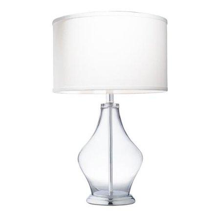 kichler lighting 1 light clear glass table lamp. Black Bedroom Furniture Sets. Home Design Ideas