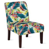 Dorel Living Teagan Abstract Accent Chair in Living Room and Bedroom