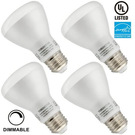 7.5W Equivalent 50W Dimmable BR20 LED Flood Light Bulb, ENERGY STAR, 4000K Cool White, E26 Medium Base, Pack of 4