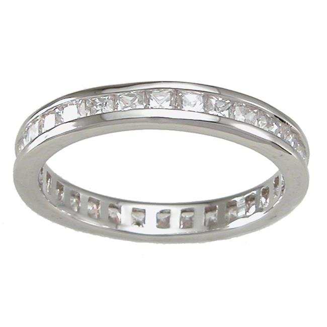 Plutus kkr6741a 925 Sterling Silver Eternity Ring Size 6