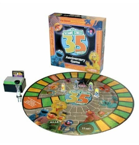 Sesame Street 35th Anniversary Trivia Game Board Game by