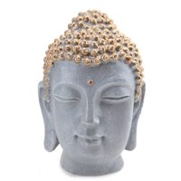 "Smiling Meditating Buddha Shakyamuni Head Statue 7.5"" Tall Blessing Mercy & Love Peaceful Feng Shui Idea"