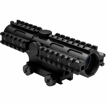 NcStar Tri-rail Series 4x32 Compact Scope/3 Rail Sighting System Mil-dot/Blue/Weaver Mount