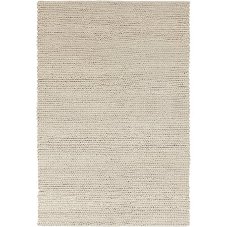 2' x 3' Granuleux Tan and Beige Hand Woven Wool Area Throw Rug