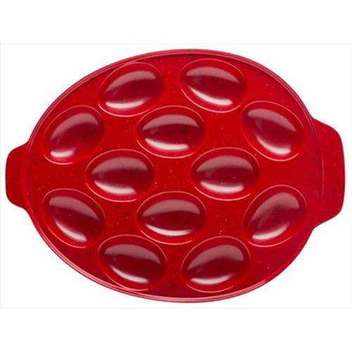 Zak Design Sprinkles Red 0078-2227 Oval 11 inch Egg Tray, Pack Of 4