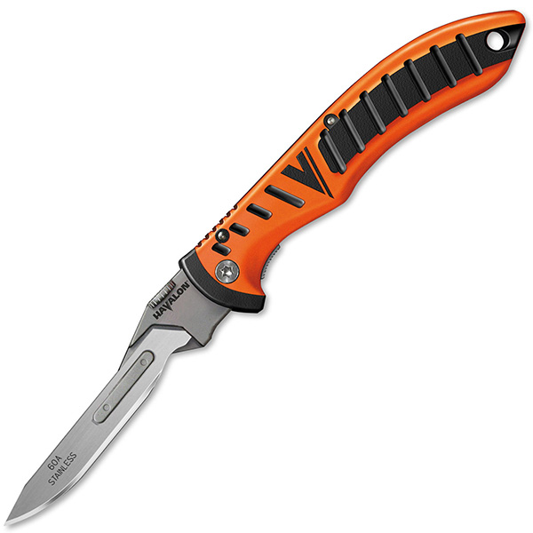 Havalon Knives Forge Folding Knife Blaze Orange