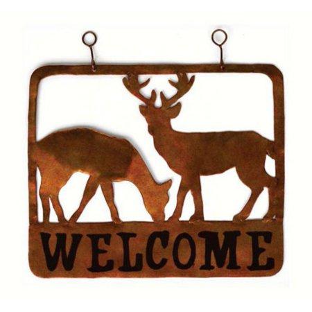 Gift Essentials Doe & Buck Welcome Sign Decor
