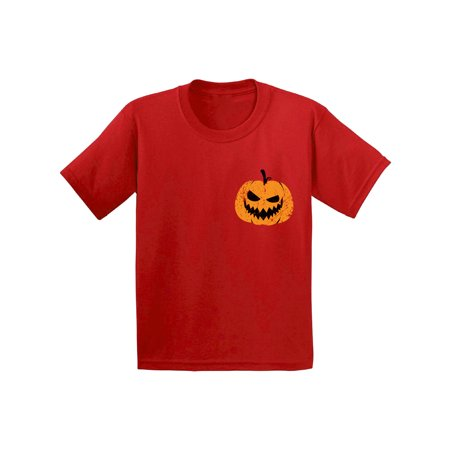 Awkward Styles Pumpkin Patch Tshirt Jack-O'-Lantern Pocket Shirt Halloween Shirt for Kids Spooky Outfit Scary Gifts for Kids Pumpkin Face T Shirt Jack-O'-Lantern Pumpkin Shirt Kids Halloween Tshirt