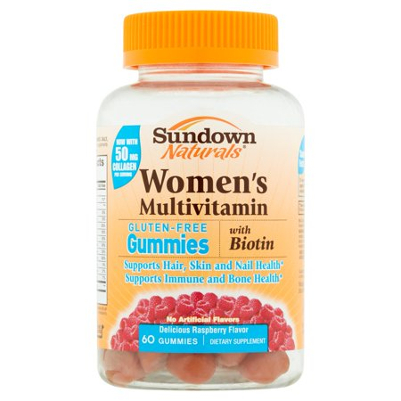 Sundown Naturals délicieux framboise saveur 60 gélifiés
