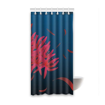 BOSDECO Equinox Flowers Waterproof Polyester Bathroom Shower Curtain 36x72 Inches - image 1 of 2