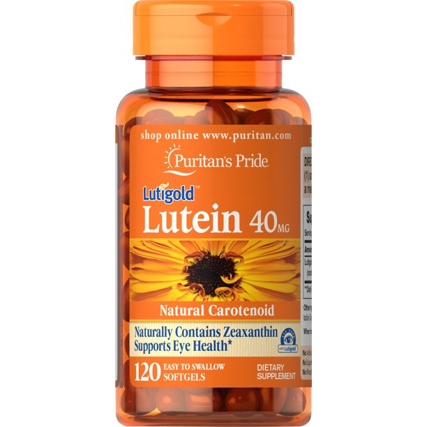 Puritan's Pride Lutein 40 mg with Zeaxanthin, 120 Softgels
