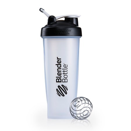 BlenderBottle 32oz Classic Shaker Cup with Wire Whisk BlenderBall and Carrying Loop, Full Color -