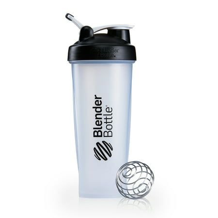 BlenderBottle 32oz Classic Shaker Cup with Wire Whisk BlenderBall and Carrying Loop, Full Color