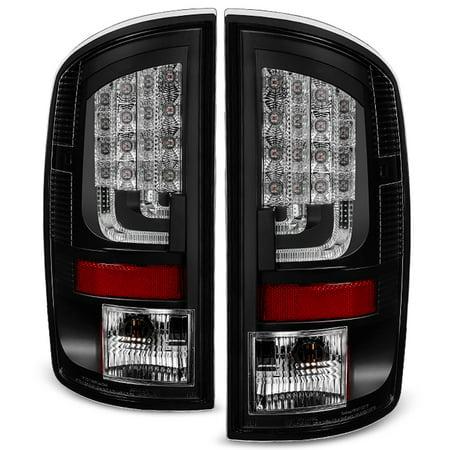 Fits 2002 2006 Dodge Ram 1500 2003 2500 3500 Black Led Bar Tail Lights