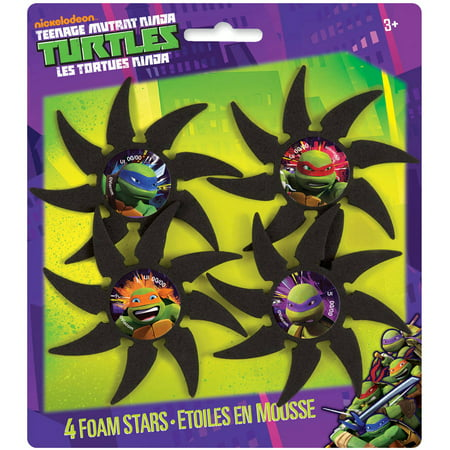 Foam Teenage Mutant Ninja Turtles Throwing Stars, 4ct - Ninja Turtles Favors