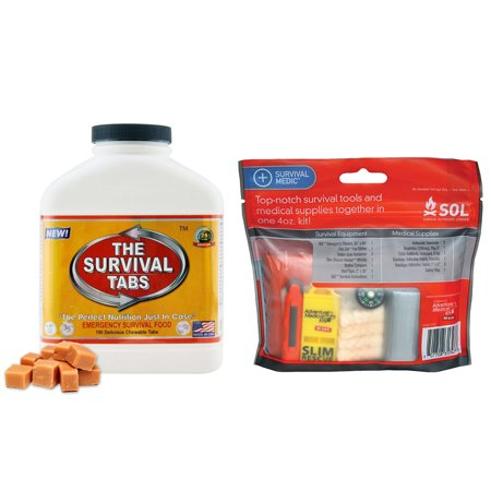 Survive Outdoors Longer Emergency Survival Outdoor Hunting Camping Medic Kit   Survival Tabs 15 Days Emergency Food  180 Tabs Butterscotch