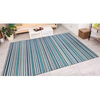 Couristan Cape Brockton/Cobalt-Teal Rug