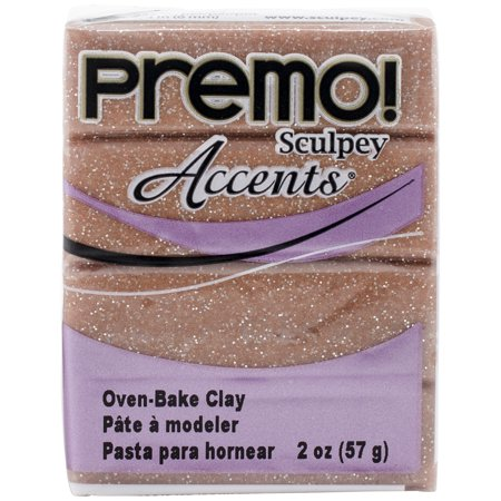 Premo Sculpey Accents Polymer Clay 2oz-Rose Gold Glitter