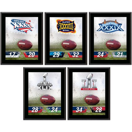 "New England Patriots 10.5"" x 13"" Sublimated Super Bowl Champion Plaque Bundle"