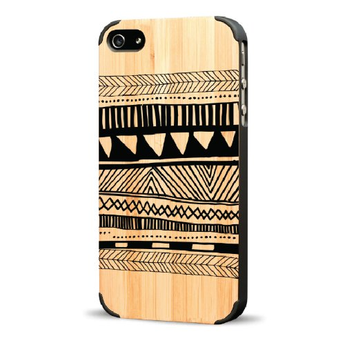 Recover Blanket Wood Case for iPhone 4/4S - Bamboo/Black - Retail Packaging