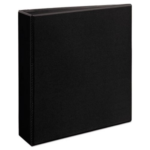 Nonstick Heavy-Duty EZD Reference View Binder 5 Capacity Black