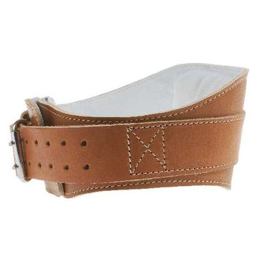 Schiek Sports, Inc. 6'' Power Leather Lifting Belt in Natural Leather
