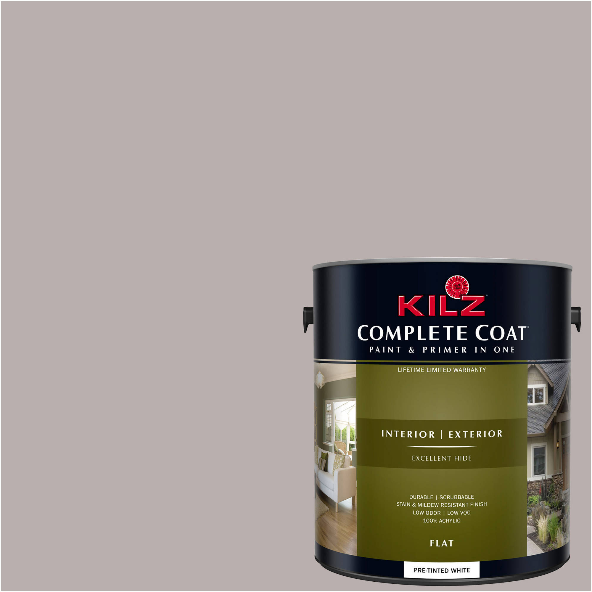 KILZ COMPLETE COAT Interior/Exterior Paint & Primer in One #LA250-01 Natural Echo