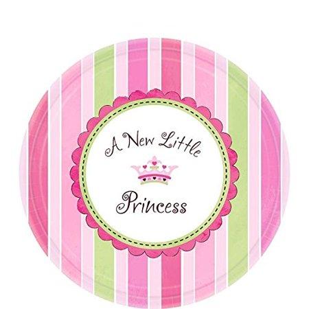 "Amscan Pretty Little Princess Baby Shower Party Supply Dessert Paper Plates, 7"", Pink/Green/Purple - image 1 de 1"