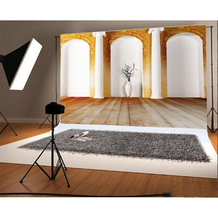 Hellodecor Polyster 7x5ft Photography Backdrop Interior Living Room