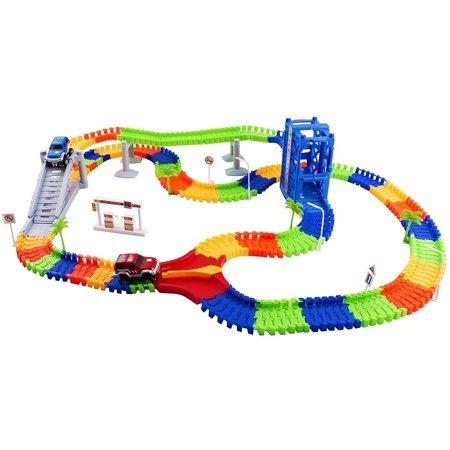 Vokodo - Educational, Twistable, Race Car Track - 240 Pieces & 2 Cars (Gas Toy Cars)