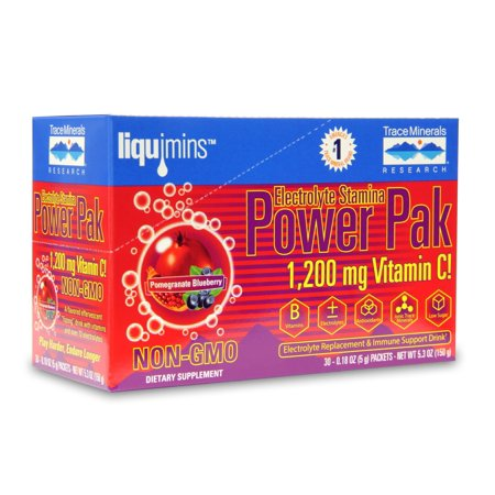 Electrolyte Power Pak (Trace Minerals Electrolyte Stamina Power Pak Packets, Pom-Blueberry, 30 Ct)