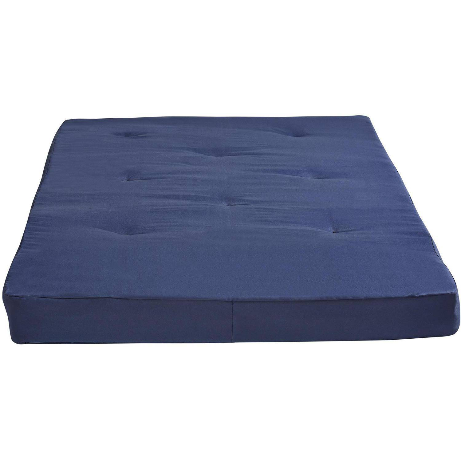 dhp 8 tufted full futon mattress navy blue walmart com