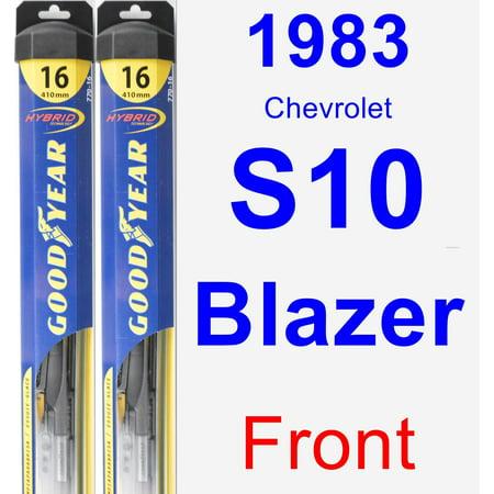- 1983 Chevrolet S10 Blazer Wiper Blade Set/Kit (Front) (2 Blades) - Hybrid