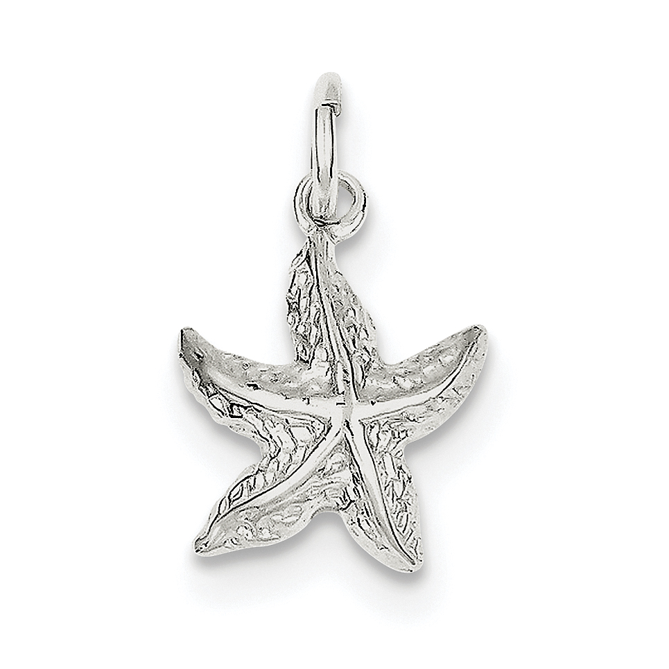 Sterling Silver Starfish Charm QC954 (17mm x 13mm) - image 2 of 2