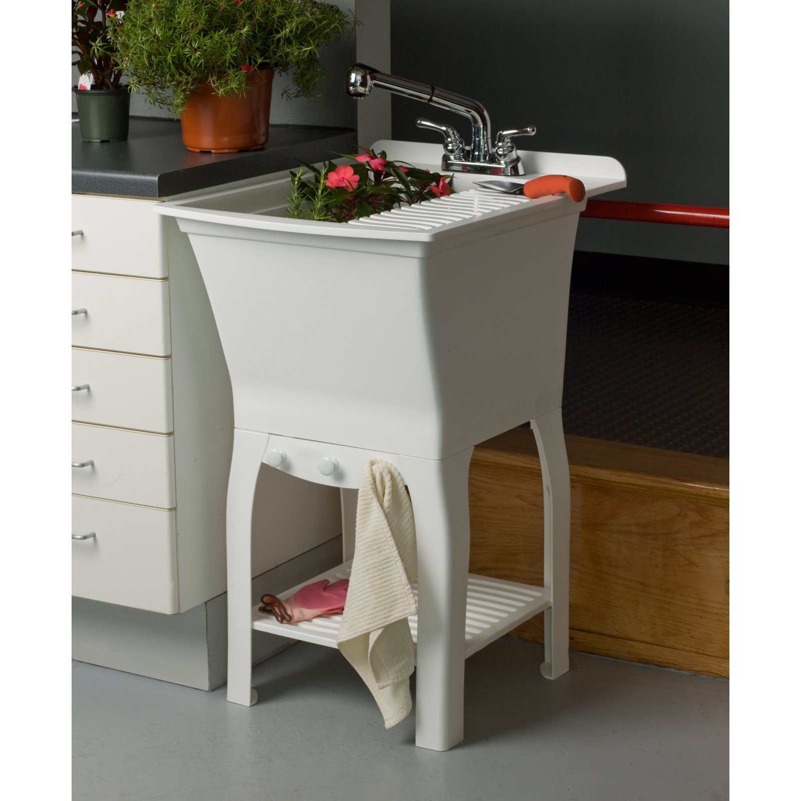 Cashel The Fitz Fully Loaded Utility Sink Kit Workstation - with Faucet