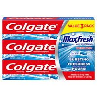 Colgate Max Fresh Toothpaste with Mini Breath Strips, Cool Mint - 6.0 Ounce (3 Pack)