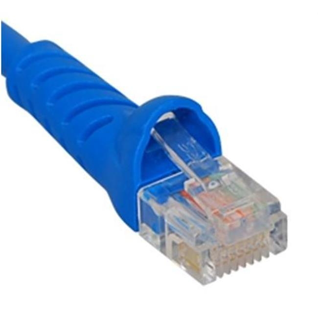 ICC ICPCSK05BL 5 ft. Ultra Slim Line Molded Boot Category 6 Patch Cord, Blue