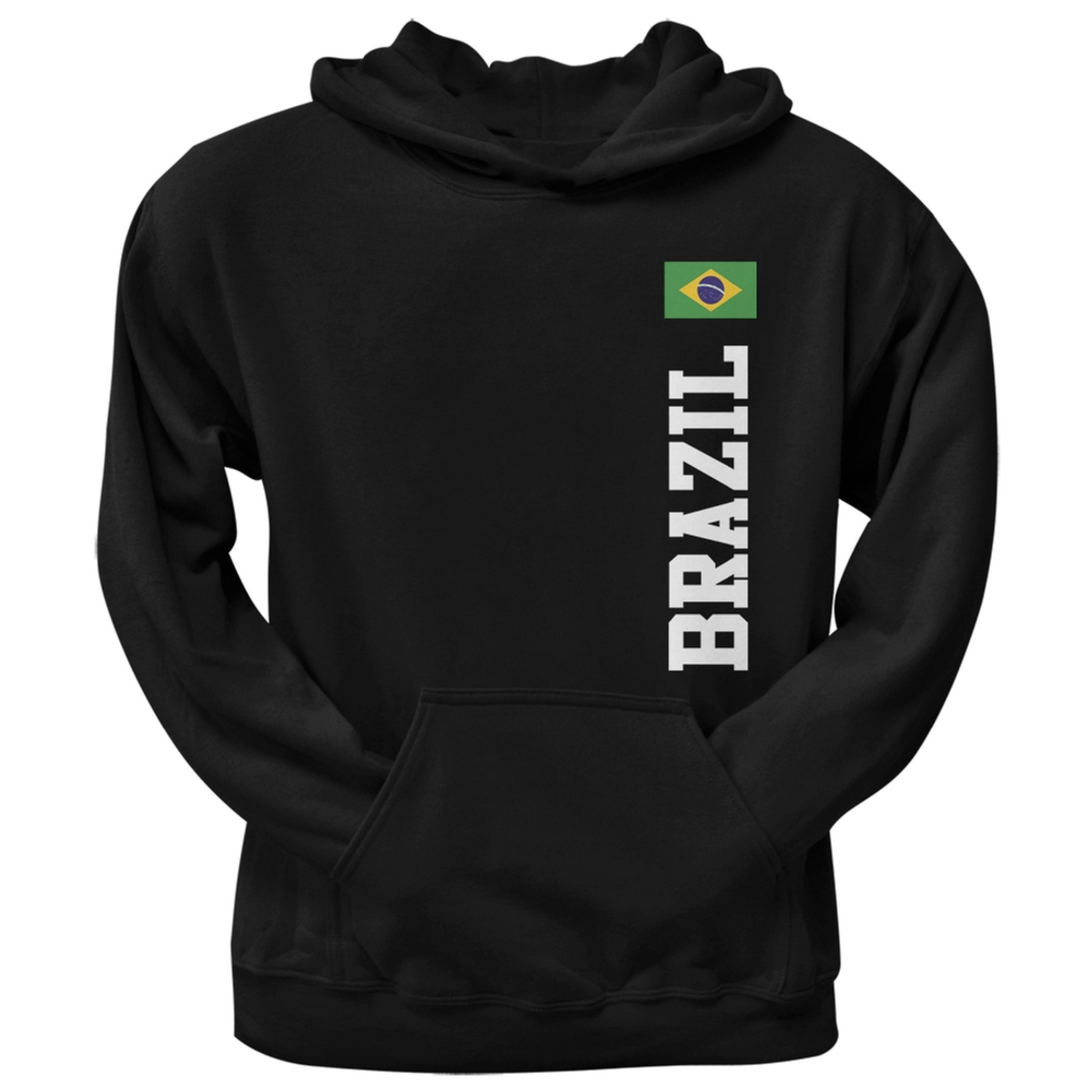World Cup Brazil Black Adult Pullover Hoodie
