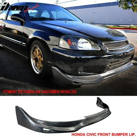 Fits 99-00 Civic CX DX JUN-Style Urethane Front Bumper Lip Spoiler PU Body Kit