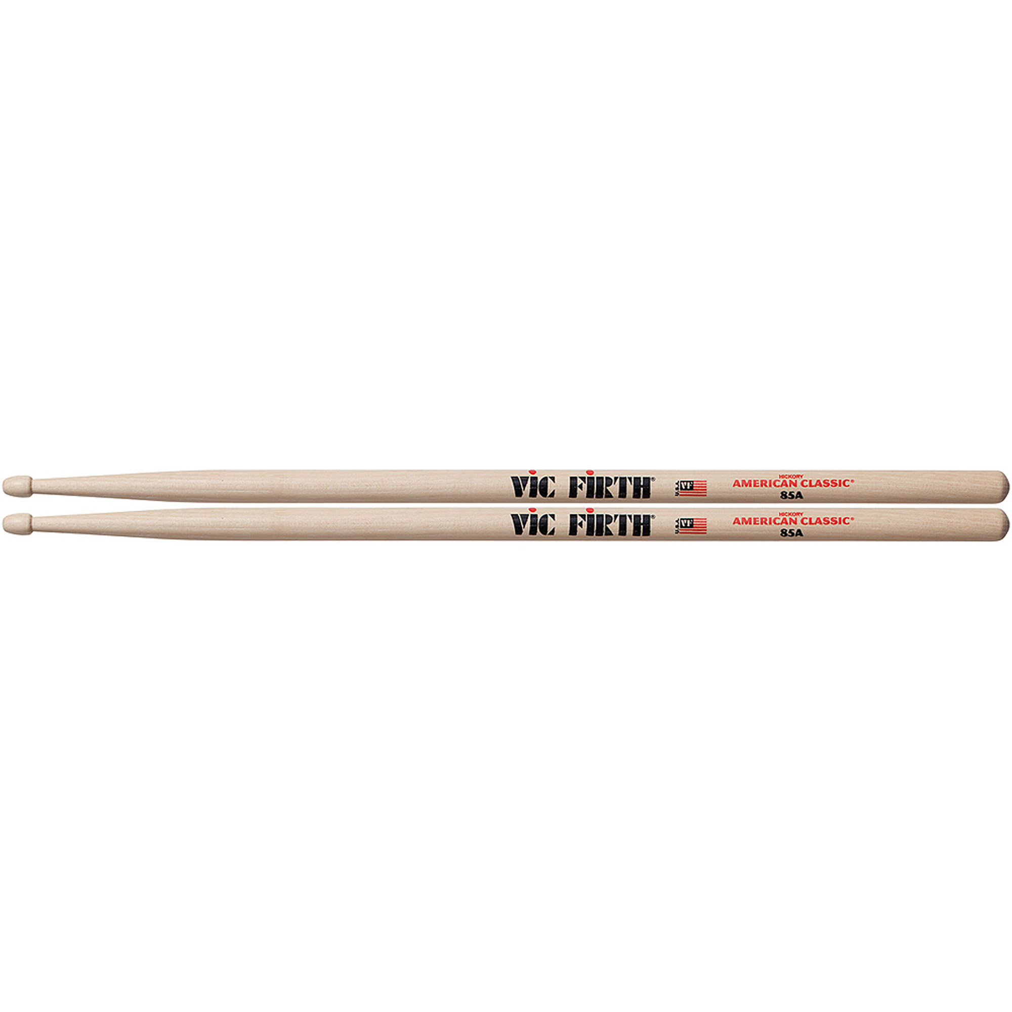 Vic Firth American Classic 85A Drumsticks, Wood Tip