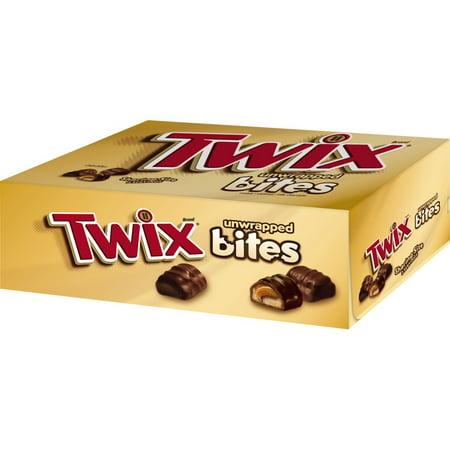 Twix Caramel Bites Size Chocolate Cookie Bar Candy, 2.83 Oz., 12 Count ()