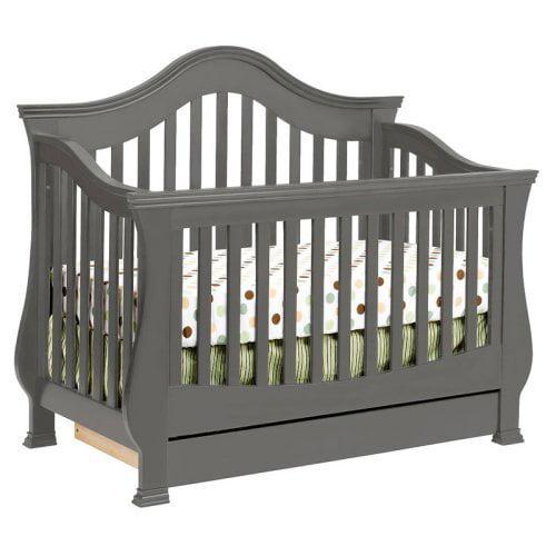 Million Dollar Baby Ashbury 4-in-1 Convertible Crib with Toddler Rail