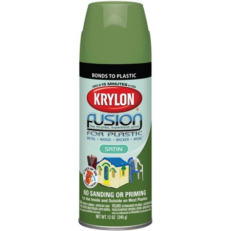 Krylon Diversified Brands Fusion Spray Paint For Plastic Satin Fern 12 Oz