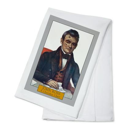 John Ross - Portrait of a Cherokee Chief (100% Cotton Kitchen Towel)