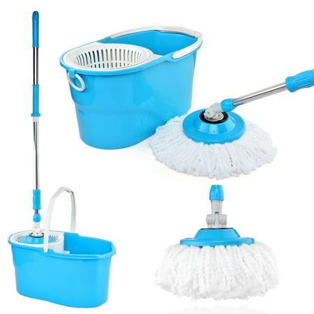 Easy Magic Floor Mop Blue 360 Degree Rotating Stainless