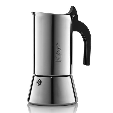 Bialetti Venus Stainless Steel Stove Top Espresso Coffee Maker, 4 cup